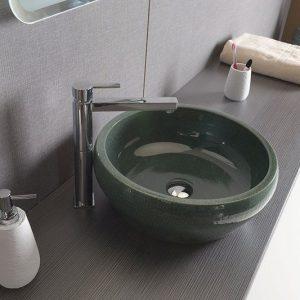 PRIORI umywalka ceramiczna średnica 42 cm kolor zielony